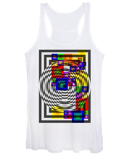 Circular Colour Fusion  Women's Tank Top