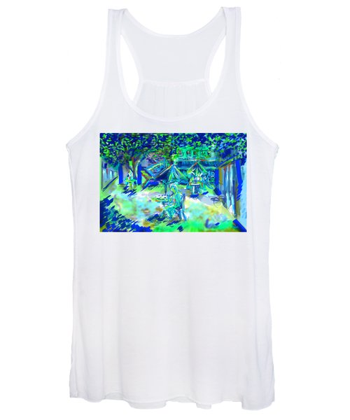 Colorful Courtyard Women's Tank Top