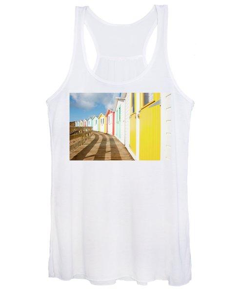 Colourful Bude Beach Huts Women's Tank Top
