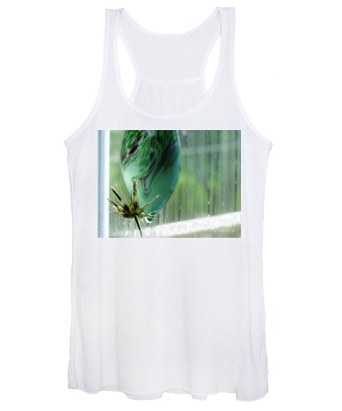 Composition In Green Women's Tank Top