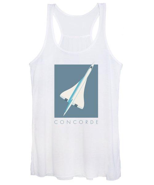 Concorde Jet Passenger Airplane Aircraft - Slate Women's Tank Top