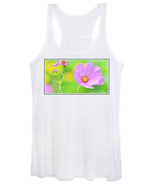 Cosmos Flower In Full Bloom, Bud Women's Tank Top