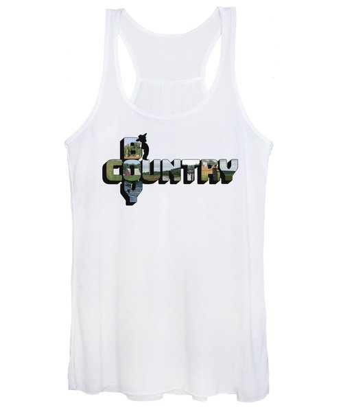 Country Boy Big Letter Women's Tank Top