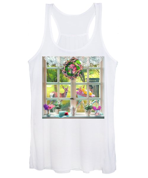 Country Cottage Painting Women's Tank Top