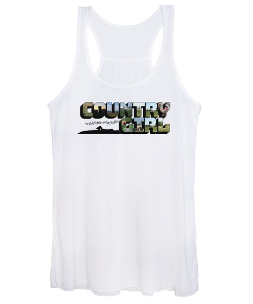 Country Girl Big Letter Women's Tank Top