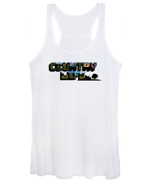 Country Life Big Letter Women's Tank Top