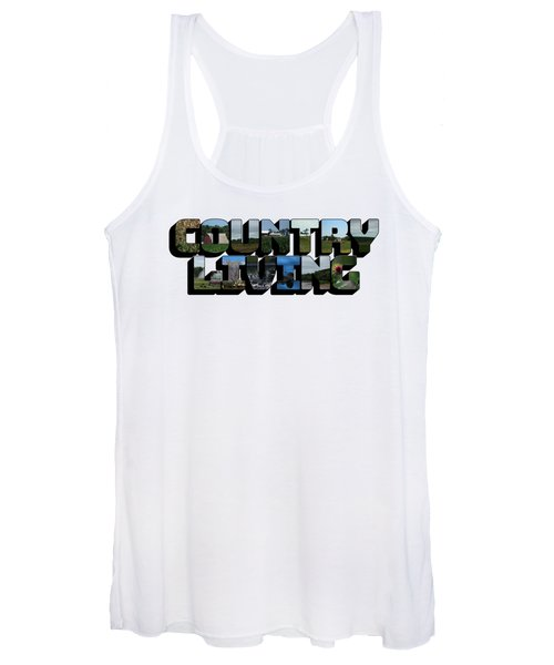 Country Living Big Letter Women's Tank Top
