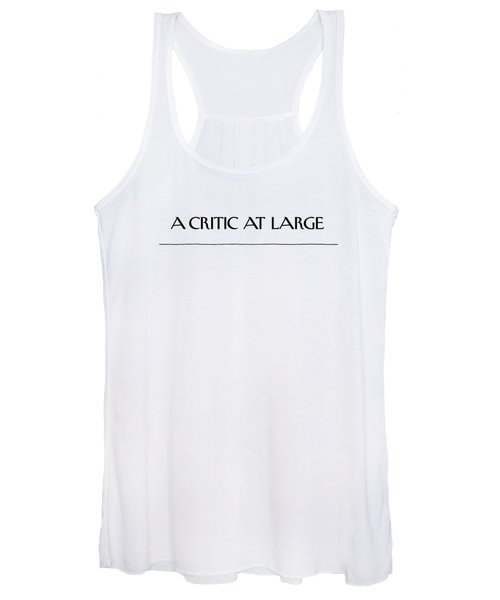 Critic At Large Women's Tank Top