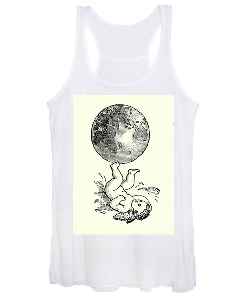 Cupid Rotating The Earth With His Feet Women's Tank Top