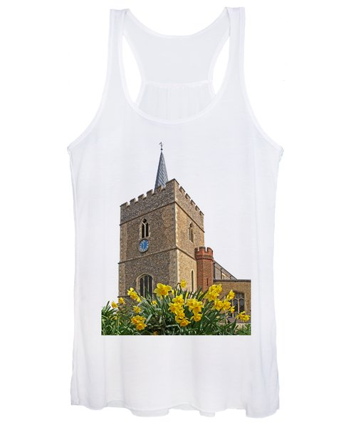 Daffodils Blooming At St. Mary's Church Women's Tank Top