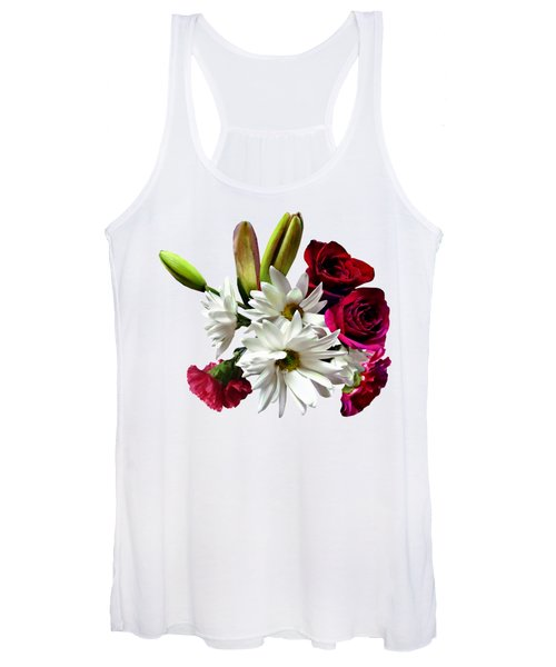 Daisies, Roses And Carnations Women's Tank Top