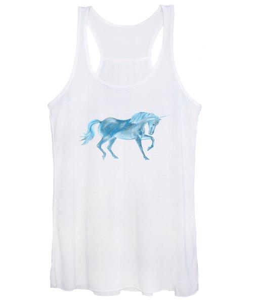 Dancing Blue Unicorn Women's Tank Top