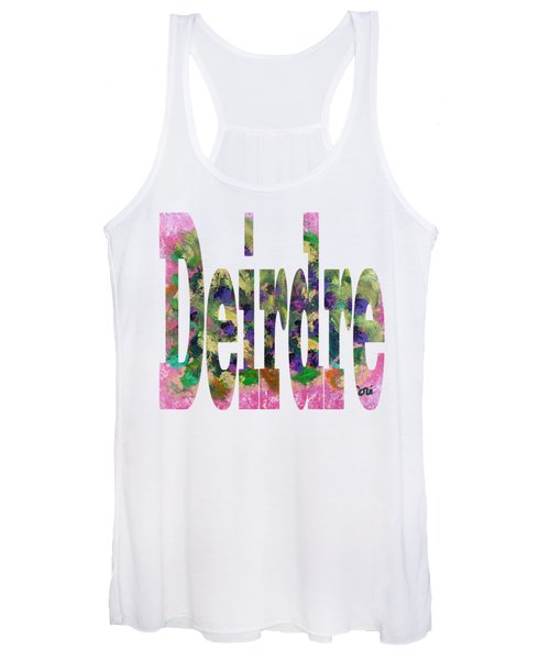 Women's Tank Top featuring the digital art Deirdre by Corinne Carroll