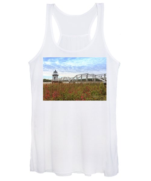 Doubling Point Lighthouse In Maine Women's Tank Top