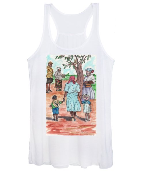 Down The Red Road And Past The Magnolia Tree Women's Tank Top