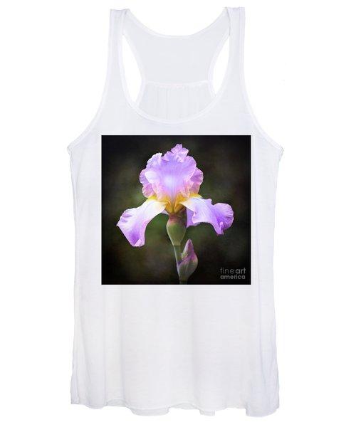 Dramatic Purple Iris Women's Tank Top