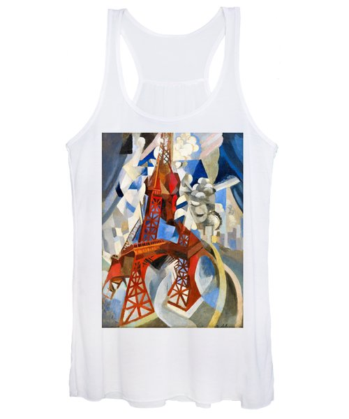 Digital Remastered Edition - Red Tour Eiffel Women's Tank Top