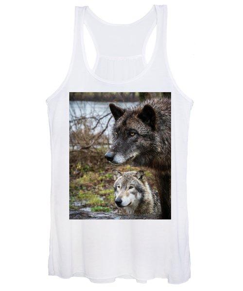 Dual Wolves Women's Tank Top