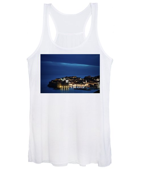Dubrovnik Old Town At Night Women's Tank Top