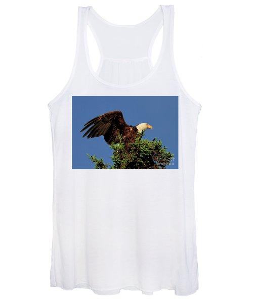 Eagle In Treetop Women's Tank Top