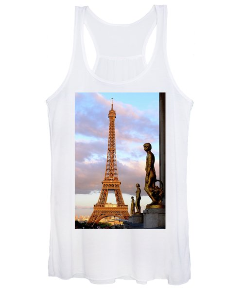 Eiffel Tower At Sunset Women's Tank Top
