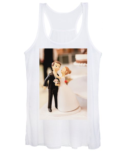 Elegant Wedding Cake Dolls Women's Tank Top