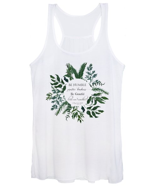 Emerald Wild Forest Foliage Watercolor Women's Tank Top
