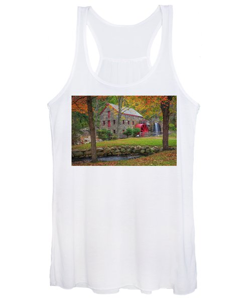 Fall Foliage At The Grist Mill Women's Tank Top