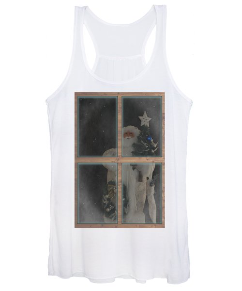 Father Christmas In Window Women's Tank Top