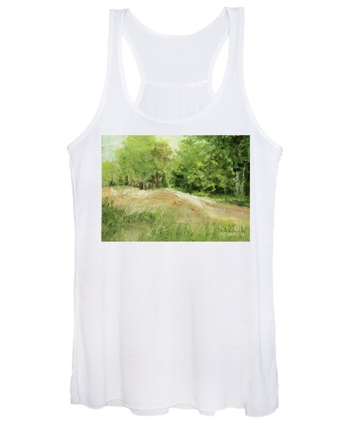 Woodland Trees And Dirt Road Women's Tank Top