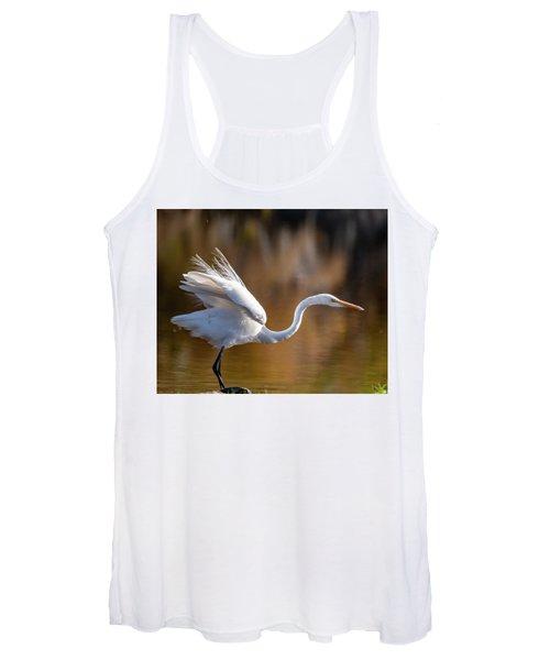 Floofy Egret Women's Tank Top