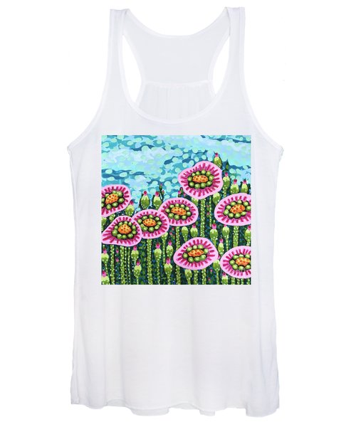 Floral Whimsy 8 Women's Tank Top