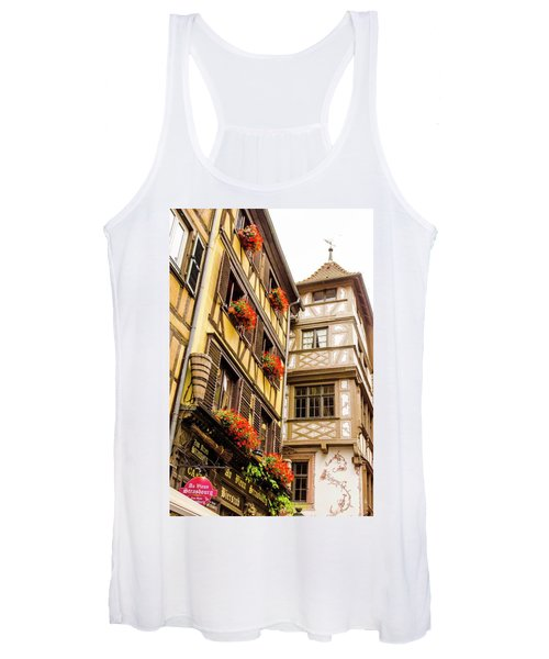 Flower Boxes Strasbourg Women's Tank Top