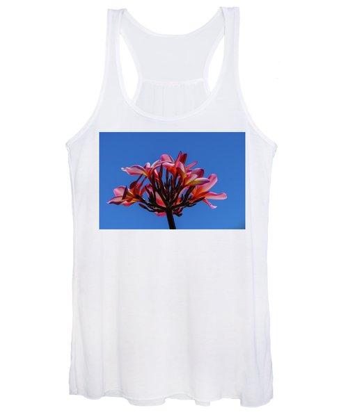 Flowers In Clear Blue Sky Women's Tank Top