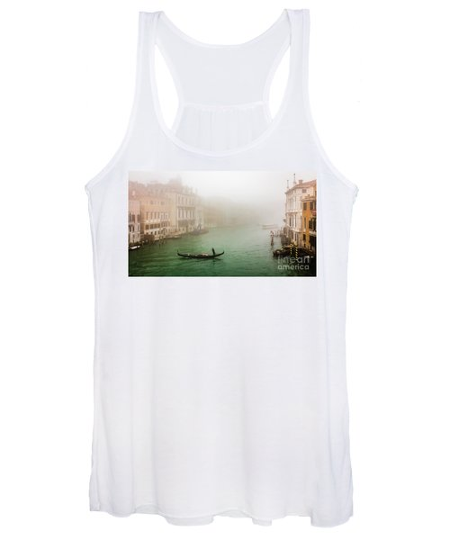 Foggy Morning On The Grand Canale, Venezia, Italy Women's Tank Top
