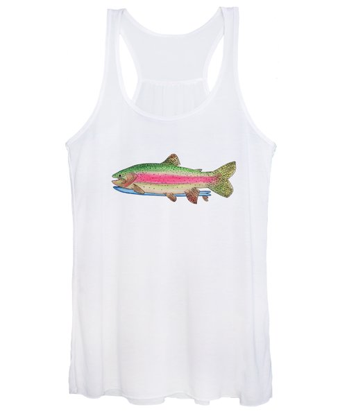 Rainbow Trout On A Fish Women's Tank Top