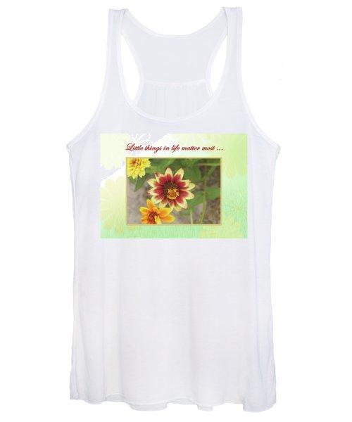 Friendship, A Smiling Indian Blanket Flower  Women's Tank Top
