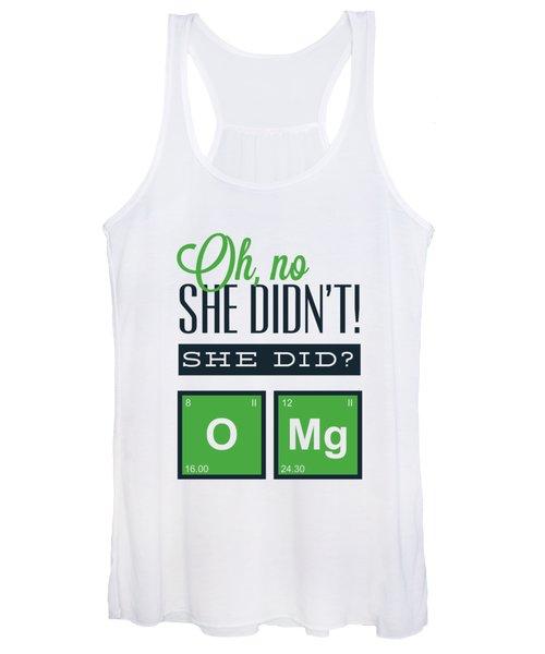 Funny Chemistry Joke Omg Women's Tank Top
