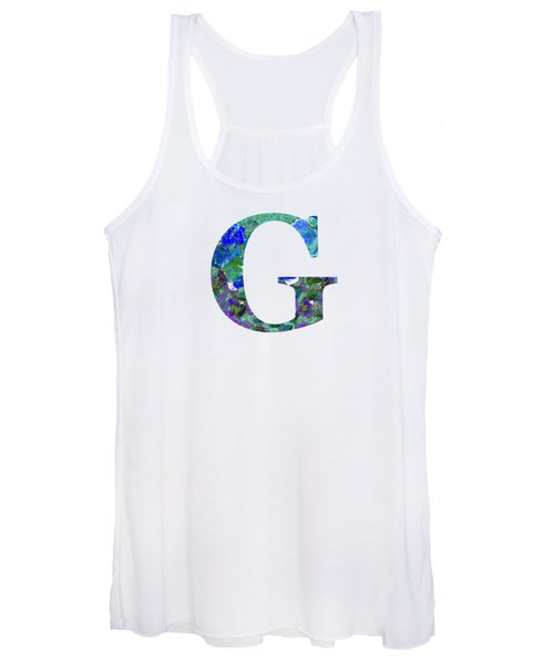 Women's Tank Top featuring the digital art G 2019 Collection by Corinne Carroll