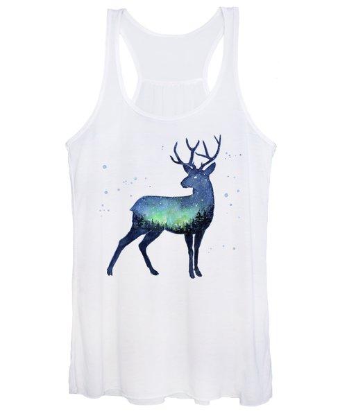 Galaxy Reindeer Silhouette Women's Tank Top