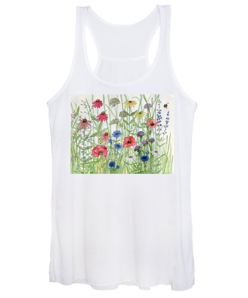Garden Flower Medley Watercolor Women's Tank Top