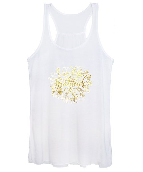 Golden Gratitude Women's Tank Top