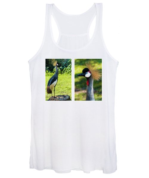 Grey Crowned Crane Gulf Shores Al Collage 10 Diptych Women's Tank Top