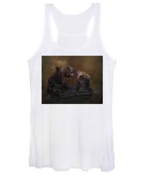 Grizzlies At Play Women's Tank Top