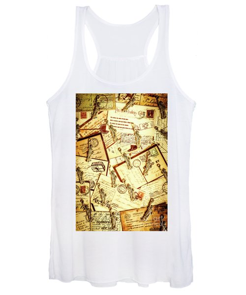 Hallmarks Of Travelling Old Women's Tank Top