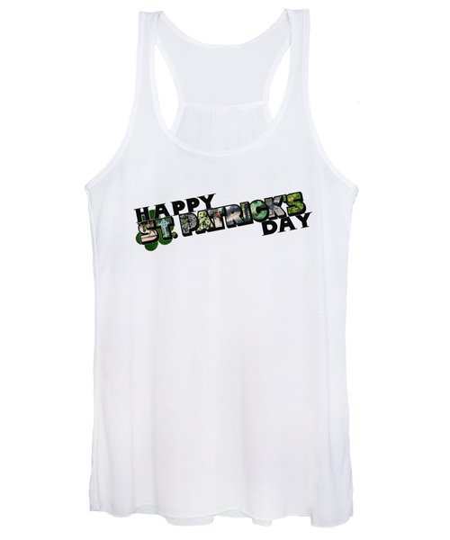 Happy St. Patrick's Day Big Letter Women's Tank Top