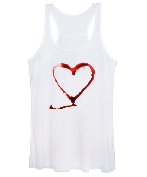 Heart Shape From Splaches And Blobs Women's Tank Top