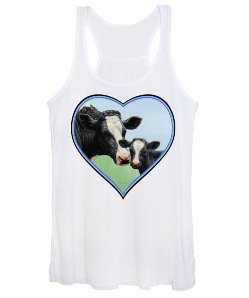Holstein Cow And Calf Women's Tank Top