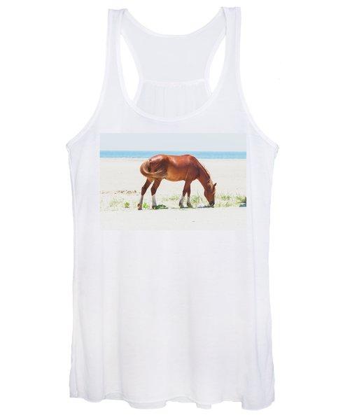 Horse On Beach Women's Tank Top