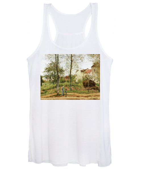 Houses At Bougival, Autumn - Digital Remastered Edition Women's Tank Top